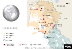 伊拉克种族宗教区域地图