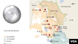伊拉克族群与教派分布区域图