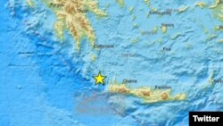Mesto potresa, na grčkom ostrvu Krit, 27. novembra 2019.