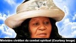 """""""Maman Olangi"""", de son vrai nom Elisabeth Wosho, la fondatrice du """"Ministère chrétien du combat spirituel"""" décédée le 5 juin à 67 ans, trois jours après l'enterrement de son mari Joseph, Kinshasa, 11 juin 2018. (Facebook/Ministère chrétien du combat spiri"""