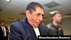 L'ancien président de la fédération de football guatémaltèque, Brayan Jiménez, arrêté suite à des accusations de corruption, le 1er mars 2016.