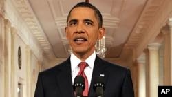 奥巴马总统周一晚向全国发表讲话,谈有关提高债务上限的辩论