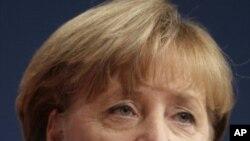 德国总理默克尔11月14日在莱比锡发表讲话
