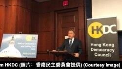 美國國會及行政當局中國委員會委員史密夫眾議員3月10日出席香港民主委員會在國會舉行的活動(照片﹕香港民主委員會提供)