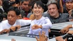 버마 민주화 운동가 아웅산 수치 여사.(자료사진)