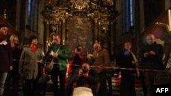Эксгумированы останки астронома Тихо Браге. Прага. Чехия. 15 ноября 2010 года