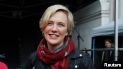FILE - Labour MP Stella Creasy, whose constituents were told they could not enter the US.