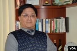香港冠域商業及經濟研究中心主任關焯照。(美國之音湯惠芸)