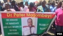 Protesting doctors in Zimbabwe