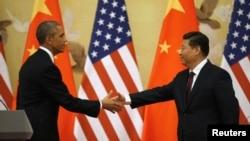 美国总统奥巴马与中国国家主席习近平