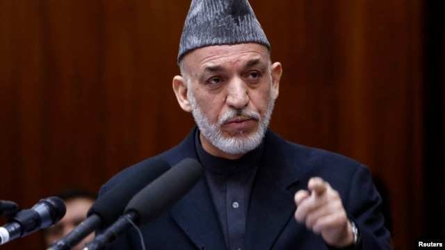 Afghan President Hamid Karzai is seen in a March 6, 2013, file photo.