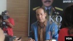Kepala Biro Penerangan Masyarakat Polri Brigjen Pol Rafli Amar (Foto: VOA/Andylala).