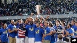 Una celebración en grande Estados Unidos en Chicago que vale medio pase a la Copa Confederaciones de Rusia 2017.