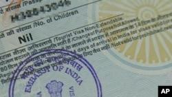 인도 비자(자료사진)