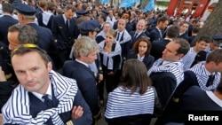 Les pilotes de la compagnie aérienne étaient en grève le 24 septembre 2014.