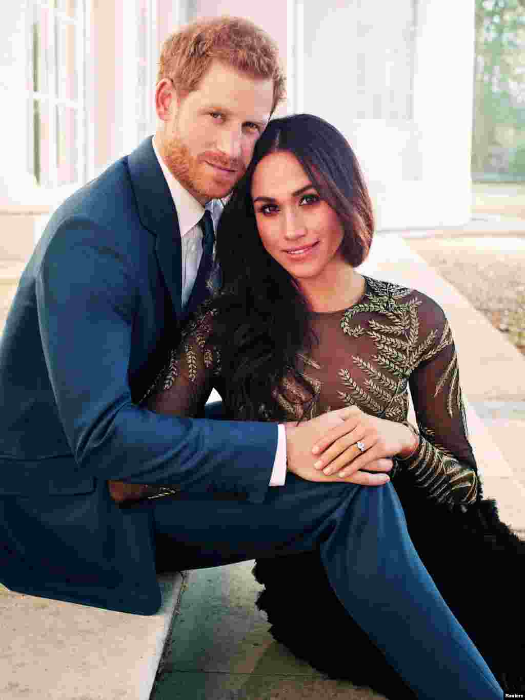 One of the official engagement photos released by Kensington Palace of Prince Harry and Meghan Markle, at Frogmore House in Windsor, Britain. (Credit: Kensington Palace/Handout via Reuters)