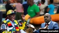 Mutungamiri wenyika VaEmmerson Mnangagwa nemutungamiri weMDC Alliance VaNelson Chamisa