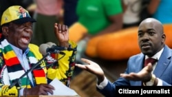 President Emmerson Mnangagwa and Nelson Chamisa.