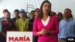 La acusación que pesa sobre María Corina Machado es la de conspiración y de ser hallada culpable enfrentaría 16 años de prisión.