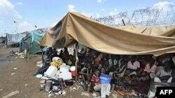 Dân chạy lánh nạn tụ tập bên ngoài trụ sở Liên hiệp quốc ở Kadugli