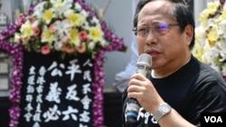 0846-香港支聯會主席何俊仁。(美國之音湯惠芸)