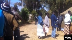 Long voting queue in Zimbabwe's general election