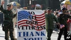 美国人民纪念退伍军人节