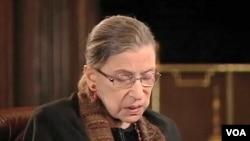 Ruth Bader Ginsburg, Hakim Agung Amerika (foto: dok).
