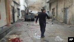 حمص میں گولہ باری