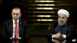 حسن روحانی و رجب طیب اردوغان، روسای جمهور ایران و ترکیه