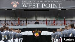 Le President Barack Obama à l'Académie militaire de West Point dans l'Etat de New York le 28 Mai 2014.