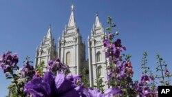 """Gereja Mormon """"Salt Lake Temple"""" di Temple Square, Salt Lake City, negara bagian Utah (foto: ilustrasi)."""