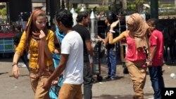 Scène de la rue en Egypte le 19 août 2012.