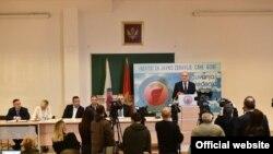 Konferencija za novinare Nacionalnog koordinacionog tijela za borbu protiv zaraznih bolesti (Foto: Vlada Crne Gore/Twitter)