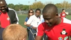 Haitian Soccer Amputees Assist Wounded US Soldiers