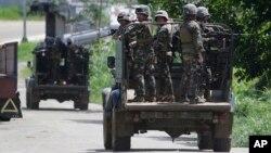 سربازان فلیپینی در جنوب این کشور