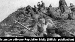 Fotografija iz arhive Ministarstva odbrane Srbije boraca u rovovima iz Prvog svetskog rata, Foto: official publication