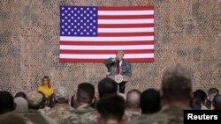 Donald Trump u posjeti američkim vojnicima u Iraku, 26. decembar 2018.