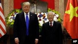 Tổng thống Hoa Kỳ Donald Trump và Tổng Bí thư, Chủ tịch nước Nguyễn Phú Trọng tại Hà Nội, ngày 27/2/2019.