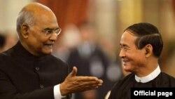 အိႏိၵယ သမၼတႏွင့္ ျမန္မာသမၼတ ေတြ႔ဆံုစဥ္ (Photo-President of India)
