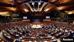 FILE PHOTO: Members of the Parliamentary Assembly of the Council of Europe take part in a debate on the functioning of democratic institutions in Turkey, at the Council of Europe in Strasbourg, France, April 25, 2017. REUTERS