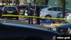 Imagen de un video del periódico Sacramento Bee, tomado en el sitio del crimen.