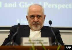 FILE - Iranian Foreign Minister Javad Zarif attends the geopolitical discussion event in New Delhi, Jan. 8, 2019. Zarif protested to Poland for its hosting with the U.S. a summit focused on the Mideast and especially Iran.