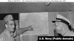 "U.S. Marine Corps Lt. Colonel Evans F. Carlson began using the term ""gung-ho"" in training his marines."