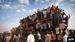 Des supporters de Raila Odinga.
