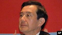 马英九在记者会上发言