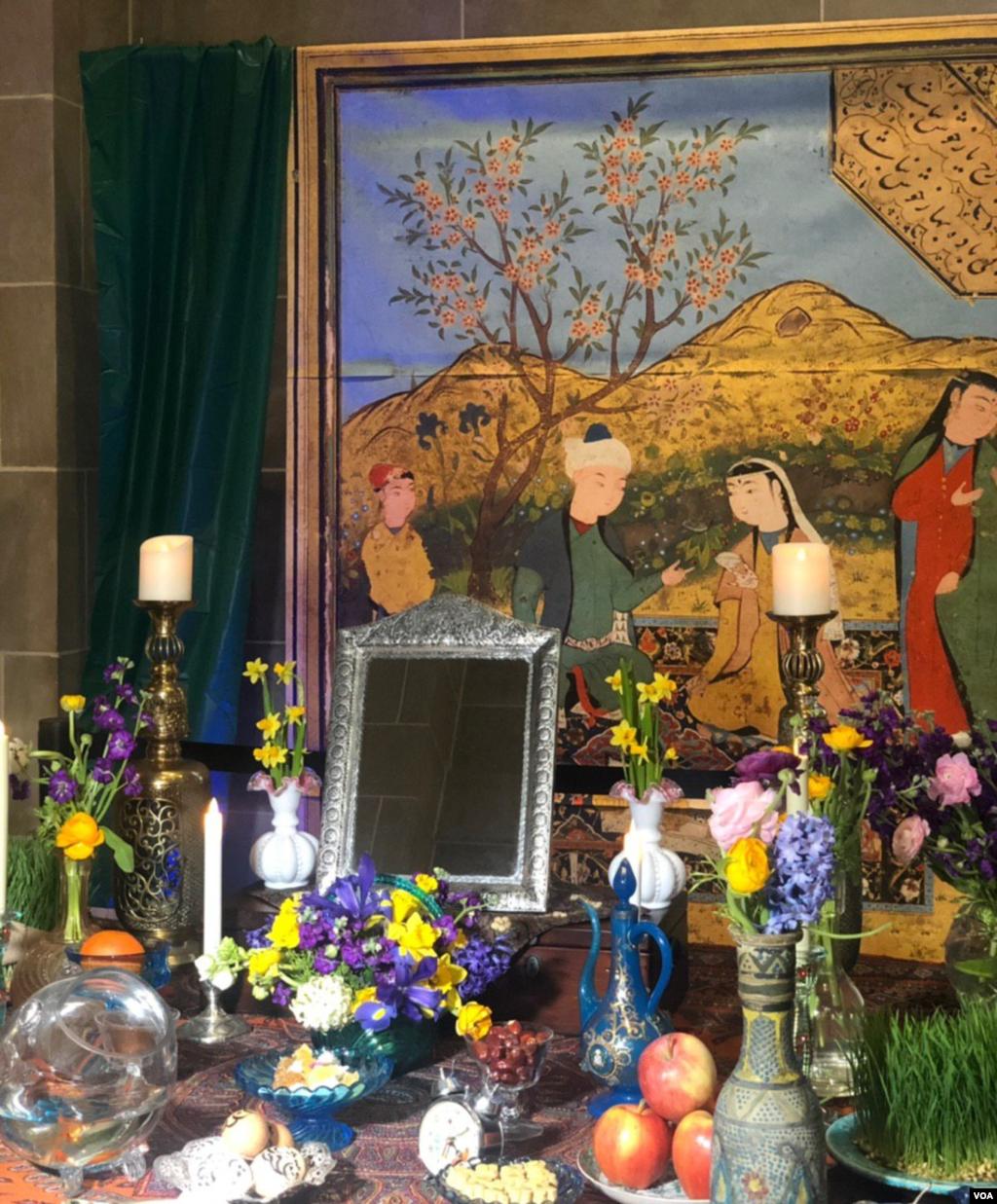 محل ورودی به جشن نوروز در گالری «فریر و سکلر» در واشنگتن.