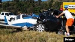 (Cortesía twitter) Según el portal de noticias 10 News, fue un motociclista el que reportó este accidente a la Patrulla de Caminos del estado de California.