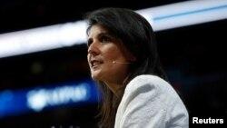 Duta Besar Amerika untuk PBB Nikki Haley (foto: dok).