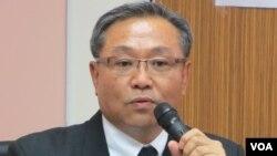 台湾国防部军备局采购管理处处长萧天流少将(美国之音 张永泰拍摄)